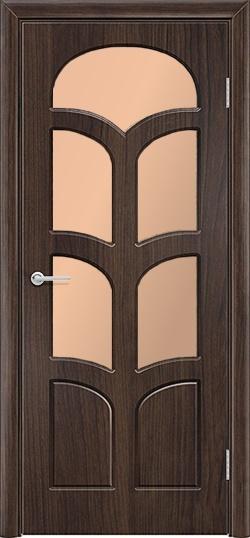 Межкомнатная дверь ПВХ Альфа темный орех 3