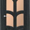Межкомнатная дверь ПВХ Овал ель карпатская 2