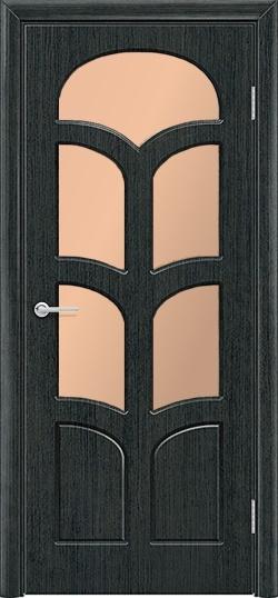 Межкомнатная дверь ПВХ Альфа венге патина 3