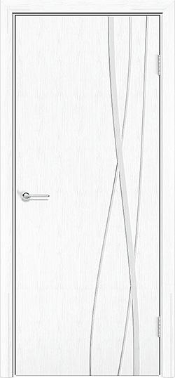 Межкомнатная дверь ПВХ Богемия белая патина 3