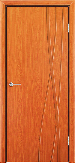Межкомнатная дверь ПВХ Богемия груша 1