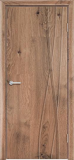 Межкомнатная дверь ПВХ Богемия светлый орех 3
