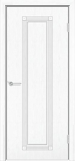 Межкомнатная дверь ПВХ Элегия белая патина 3