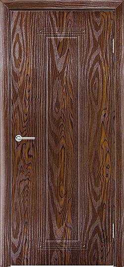 Межкомнатная дверь ПВХ Элегия дуб шоколадный 3