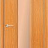 Межкомнатная дверь ПВХ Глория светлый орех 1