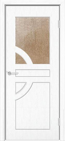 Межкомнатная дверь ПВХ Елена белая патина 3