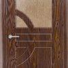 Межкомнатная дверь ПВХ Ниагара темный орех 2