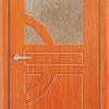 Межкомнатная дверь ПВХ Стиль 4 темный орех 1