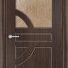 Межкомнатная дверь ПВХ Ладья темный орех 2
