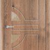 Межкомнатная дверь ПВХ Овал миланский орех 2