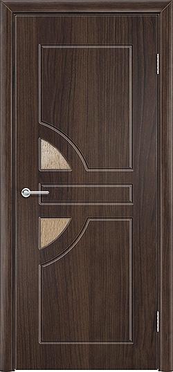 Межкомнатная дверь ПВХ Елена 2 темный орех 3
