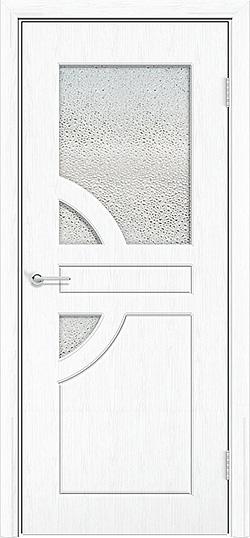 Межкомнатная дверь ПВХ Елена 3 белая патина 3