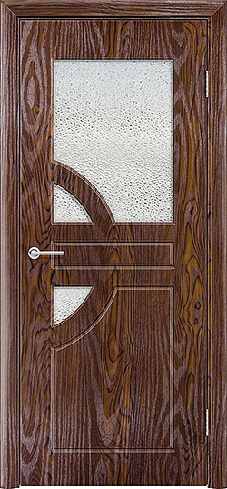 Межкомнатная дверь ПВХ Елена 3 дуб шоколадный 3