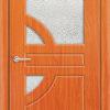 Межкомнатная дверь ПВХ Гладкое темный орех 1