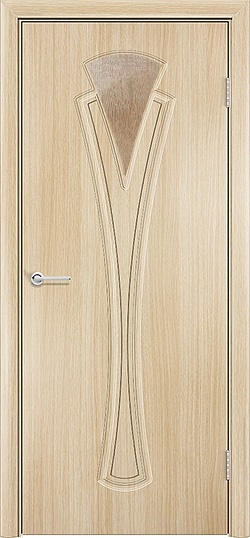 Межкомнатная дверь ПВХ Флора белёный дуб 3