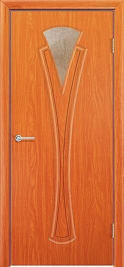 Межкомнатная дверь ПВХ Флора груша 3
