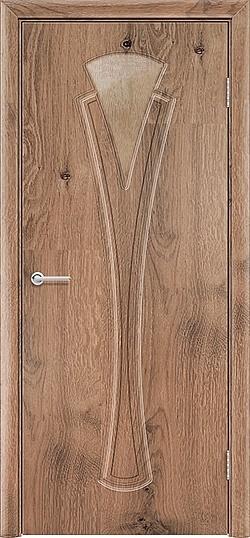 Межкомнатная дверь ПВХ Флора светлый орех 3