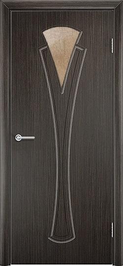 Межкомнатная дверь ПВХ Флора венге 2