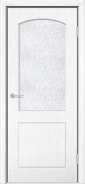 Межкомнатная дверь ПВХ Кристина белая патина 3