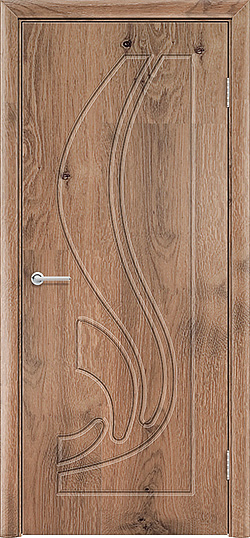 Межкомнатная дверь ПВХ Ладья светлый орех 3