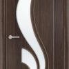 Межкомнатная дверь ПВХ Елена темный орех 1