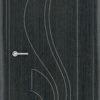 Межкомнатная дверь ПВХ Лион темный орех 2