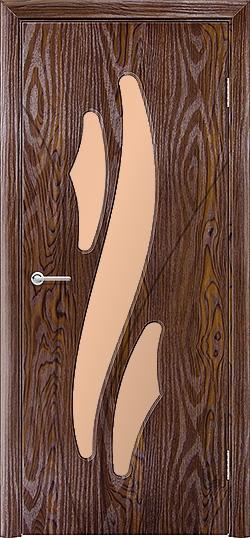 Межкомнатная дверь ПВХ Латино дуб шоколадный 3