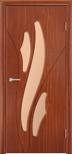 Межкомнатная дверь ПВХ Латино итальянский орех 3