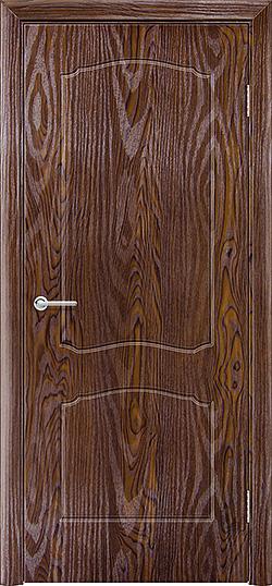 Межкомнатная дверь ПВХ Лилия дуб шоколадный 3