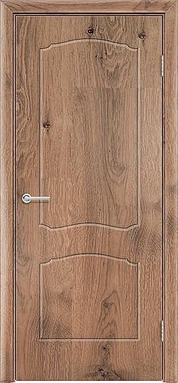 Межкомнатная дверь ПВХ Лилия светлый орех 2