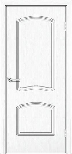 Межкомнатная дверь ПВХ Лилия 2 белая патина 3