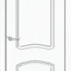 Межкомнатная дверь ПВХ Лилия 2 светлый орех 1