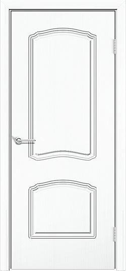 Межкомнатная дверь ПВХ Лилия 2 белый 3