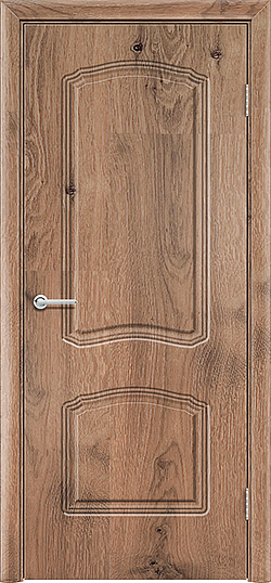 Межкомнатная дверь ПВХ Лилия 2 светлый орех 3