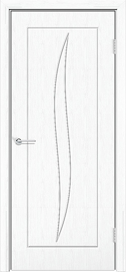 Межкомнатная дверь ПВХ Лион белая патина 3