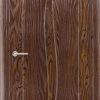 Межкомнатная дверь ПВХ Флора светлый орех 1