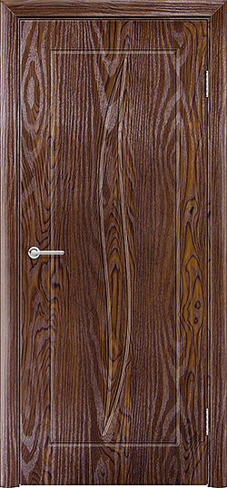 Межкомнатная дверь ПВХ Лион дуб шоколадный 3