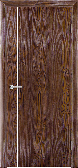 Межкомнатная дверь ПВХ Милано дуб шоколадный 3