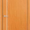 Межкомнатная дверь ПВХ Флора светлый орех 2