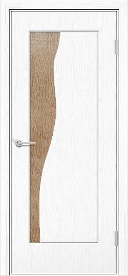 Межкомнатная дверь ПВХ Натали белая патина 3