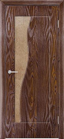 Межкомнатная дверь ПВХ Натали дуб шоколадный 3