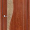 Межкомнатная дверь ПВХ Флора дуб шоколадный 1