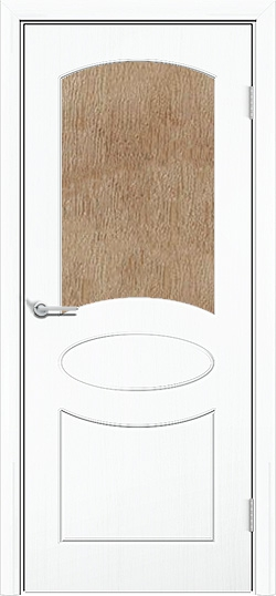 Межкомнатная дверь ПВХ Неаполь белый 3