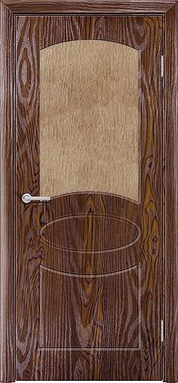Межкомнатная дверь ПВХ Неаполь дуб шоколадный 3