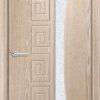 Межкомнатная дверь ПВХ Гладкое груша 1