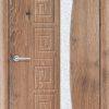 Межкомнатная дверь ПВХ Вектор дуб шоколадный 1