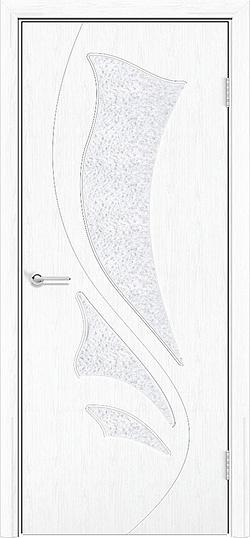 Межкомнатная дверь ПВХ Ника белая патина 3