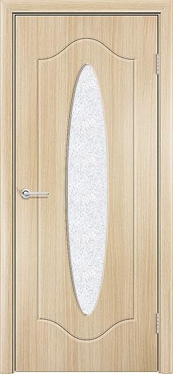 Межкомнатная дверь ПВХ Овал белёный дуб 3