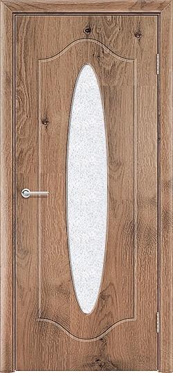 Межкомнатная дверь ПВХ Овал светлый орех 3