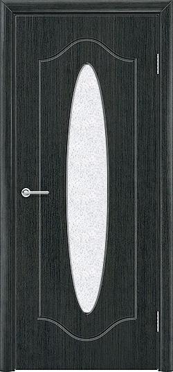 Межкомнатная дверь ПВХ Овал венге патина 2